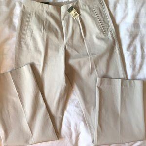 Eddy Bauer beige cotton side zip pant NWT